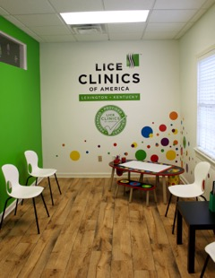 Inside parent and child waiting area of Lice Clinic Lexington
